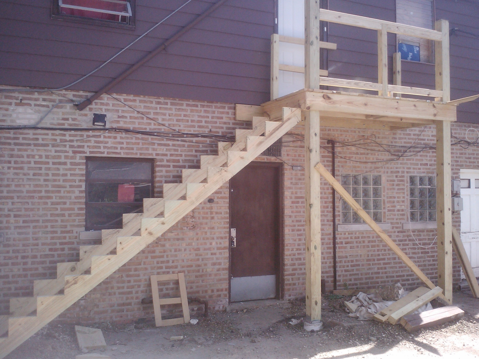 Porch and stairs during
